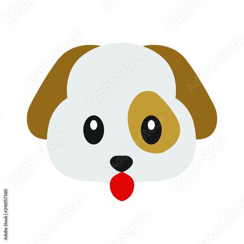 Dog emoji vector Wallpaper Mural