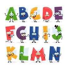 Funny Cartoon Alphabet - Set 1 Of 2