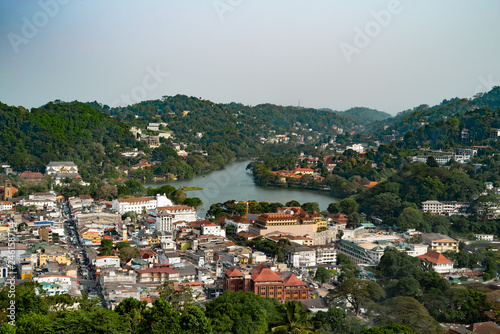 Valokuva  View from top of the mountain over Kandy