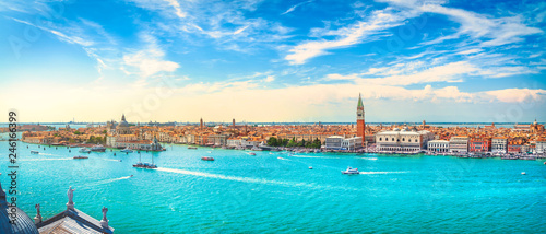 Photo Stands Venice Venice Grand Canal aerial view. Italy