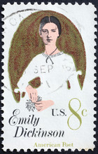 Emily Dickinson On American Postage Stamp