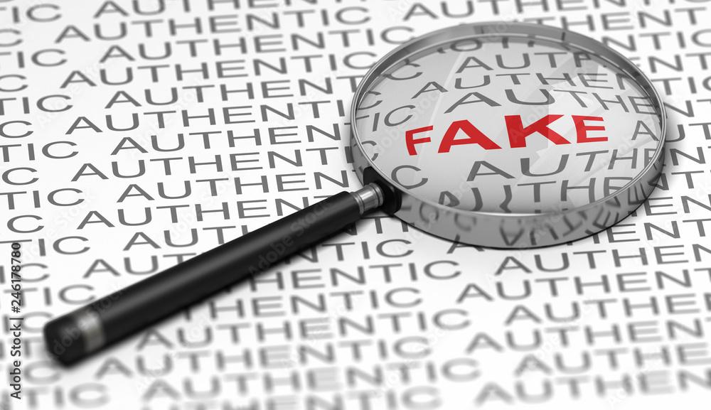 Fototapeta Document Verification, Searching for fraudulent Informations