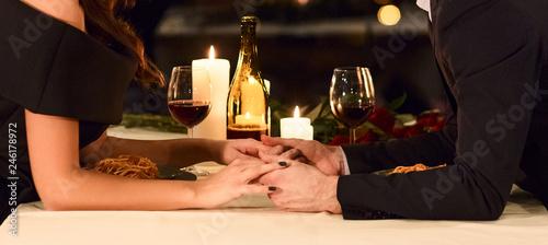 Fotomural  Romantic dinner together concept