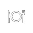 Utensil icon graphic design template vector