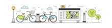 Public Bike Sharing Area With ...