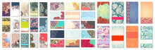 Collection Of Colorful Floral Ornamental Business Card