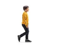 Boy Walking And Smiling