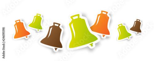 Obraz Frises de cloches / Pâques - fototapety do salonu