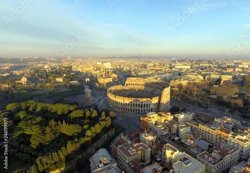 Fényképezés  The Colosseum or Coliseum, Flavian Amphitheatre in Rome, Italy