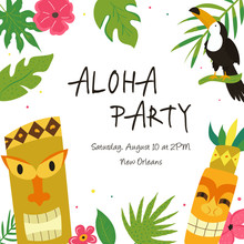Hawaiian Luau Party Invitation Template, Banner