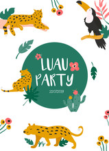 Trendy Summer Tropical Banners For Hawaiian Party