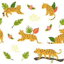 Seamless Safari Pattern With L...