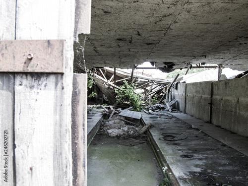 Valokuva  Eingestürzter Viehstall