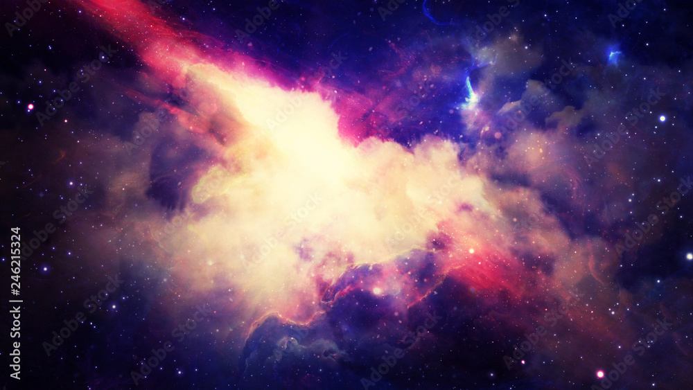 Fototapety, obrazy: 3D rendering of a stellar nebula and cosmic dust, cosmic gas clusters and constellations in deep space. Elements of this image furnished by NASA