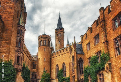 Fotografía  Hohenzollern castle in the Black Forest, Germany
