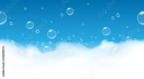 Fotografie, Obraz  Soap bubbles background