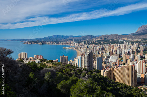 Alicante, Spain; November 24, 2018: Views of Benidorm