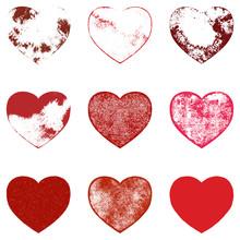 Distressed Hearts Set
