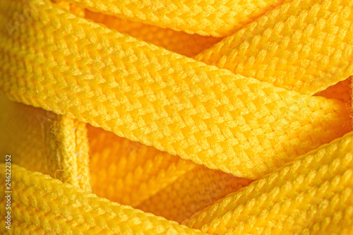 Valokuva  Yellow sneakers shoelaces