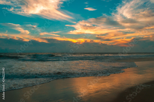 Beautiful sunset in Acapulco's beach Canvas-taulu