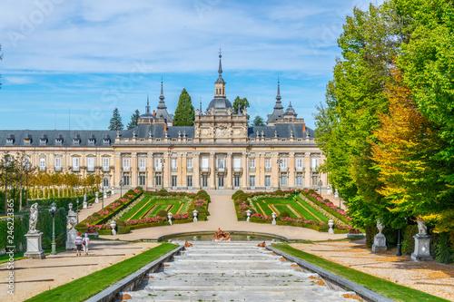 View of Palace la Granja de San Ildefonso from gardens, Spain Wallpaper Mural