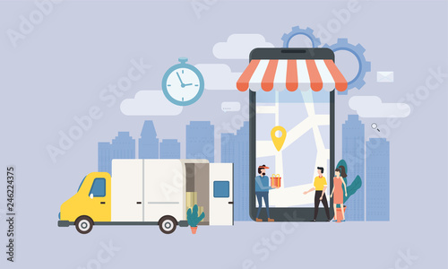 Concept Online delivery service, tracking online tracker