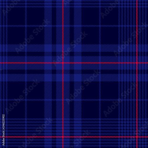Photo Deep blue tartan plaid pattern