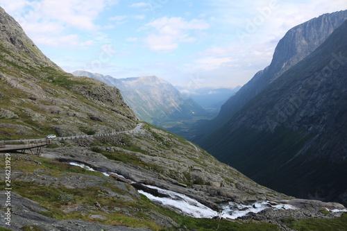 Foto op Aluminium Oceanië Norwegian canyon landscape #3