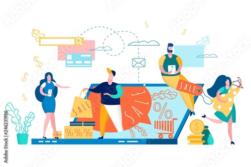 People Buy Online Internet Shop Sale Discount.