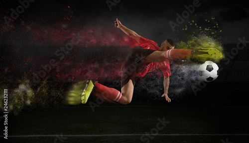 Football player in action Fototapet