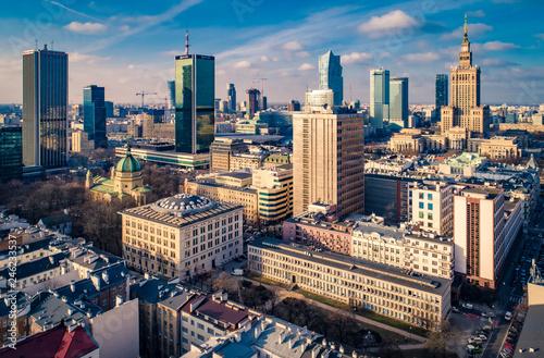 Fotografia, Obraz Słoneczna Warszawa