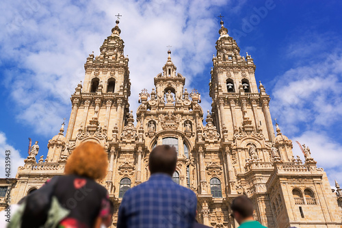 Santiago de Compostela cathedral church  in Galicia, Spain Fototapete