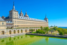 Royal Seat Of San Lorenzo De El Escorial Near Madrid, Spain