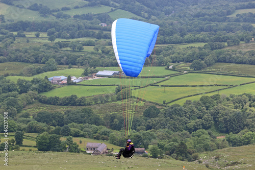 Paraglider in th Brecon Beacons