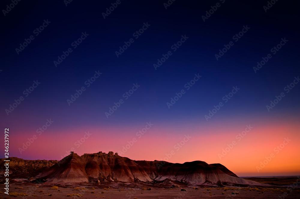 Fototapety, obrazy: Badlands at dusk