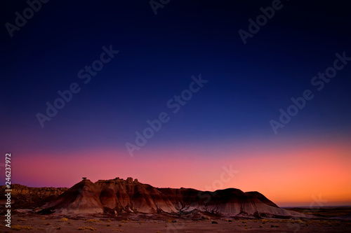Badlands at dusk Canvas Print