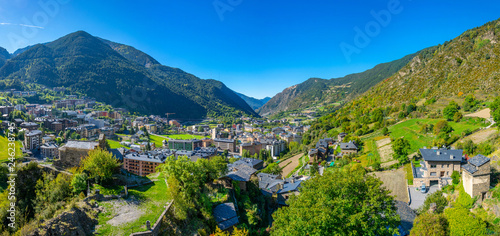 Aerial view of Encamp, Andorra Wallpaper Mural