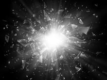 Shards Of Broken Glass. Abstra...