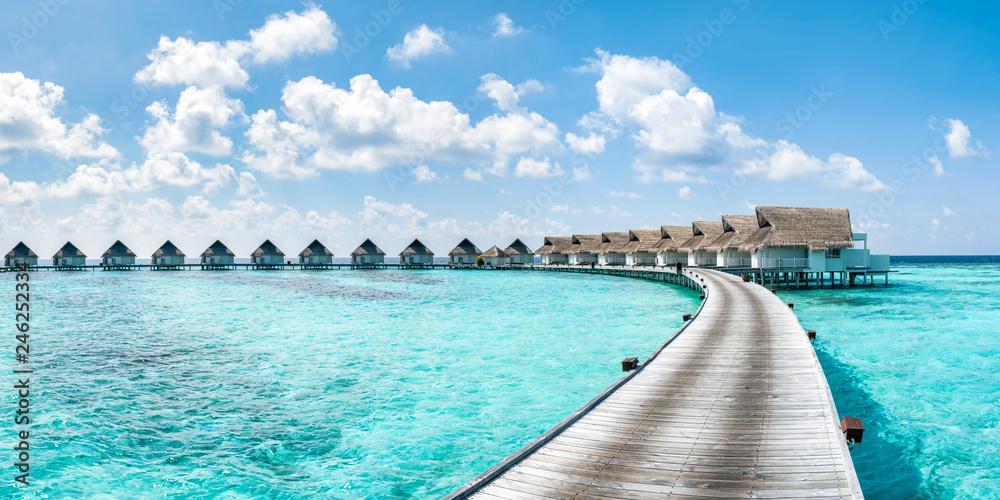 Fototapeta Urlaub in einem Luxushotel in der Südsee