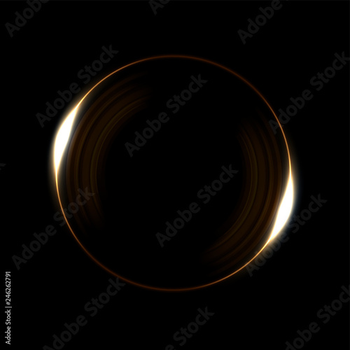 Photo  Round yellow light twisted, Suitable for product advertising, product design, and other