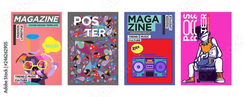 Valokuvatapetti Cover and Poster Design Template for Magazine