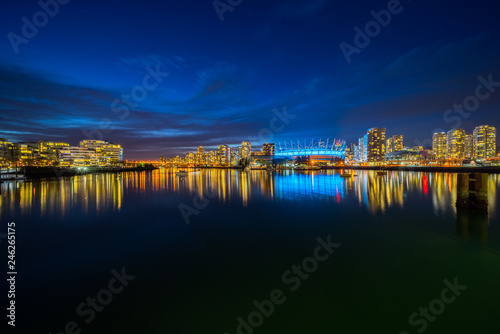 Foto op Plexiglas Stad gebouw skyline at night