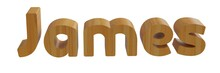 James In 3d Name With Wooden T...