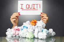 I Quit As Note Of Resignation ...