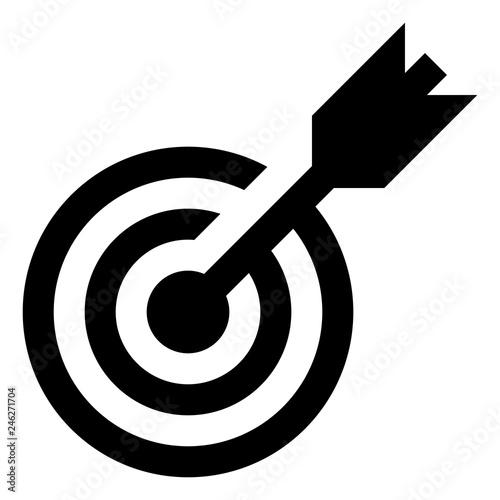 Photo Target Bullseye Vector Icon