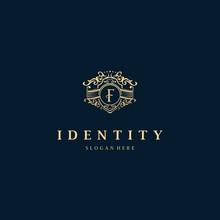Letter F Frame Luxury Creative Business Logo