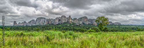 Panoramic view at the mountains Pungo Andongo, Pedras Negras (black stones), Ang Canvas Print