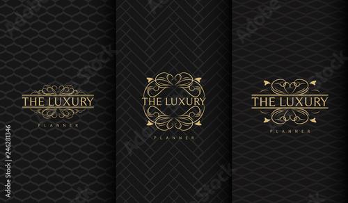Set of luxury logo Fototapete