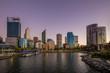 skyline of perth at night in western australia