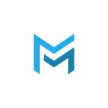 Letter Mm Logo Template. Doubl...